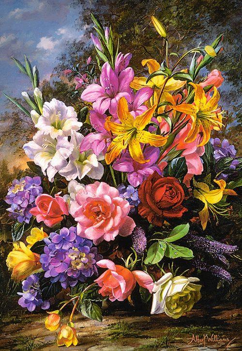Castorland Vase of flowers